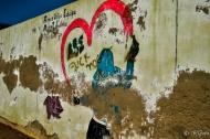モロッコ写真(壁の落書き)